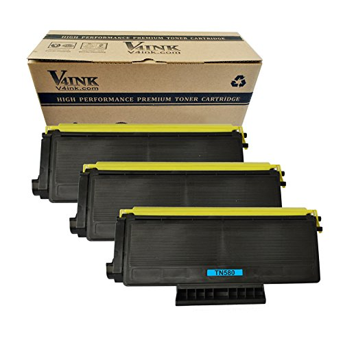 V4INK �3 pack New Compatible with Brother TN580 TN650 TN620 TN550 Toner Cartridge-8000 Page Yield for HL-5240 HL-5250 HL-5270 HL-5280 HL-5340 HL-5350 HL-5370 HL-5380 DCP-8060 DCP-8065 DCP-8080 DCP-8085 MFC-8860 MFC-8870 MFC-8660 MFC-8460 MFC-8480 MFC-8680 MFC-8690DW MFC-8880 MFC-8890 series Toner Printers