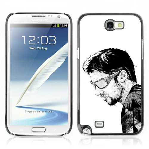 CelebrityCase Polycarbonate Hard Back Case Cover for Samsung Galaxy Note 2 II ( B&W Sunglasses Guy )