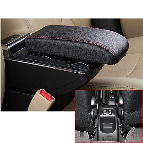 Para 2006-2013 P eugeot 206 207 Gama alta Auto Apoyabrazos Consola Central Reposabrazos Accesorios Con función de carga 7 puertos USB iluminación Led Negro