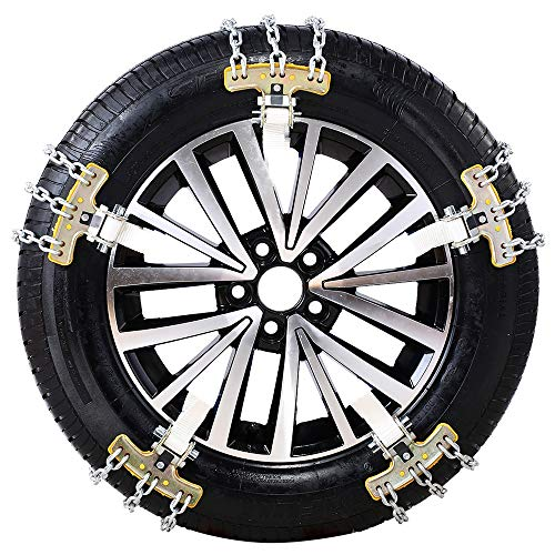 Lowest Prices! HHXX Car Snow Chains,Winter Universal Security Chains for Car Wheel (8 Article) (Size...
