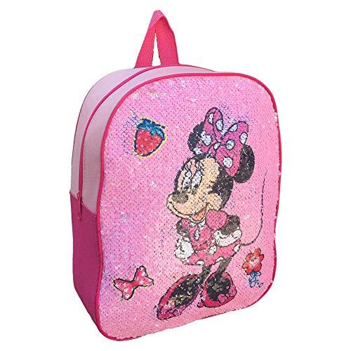 zaino Minnie E PAPERINA Disney GIRABRILLA Paillettes REVERSIBILI Asilo Borsa Scuola CM.31 - MIN0457