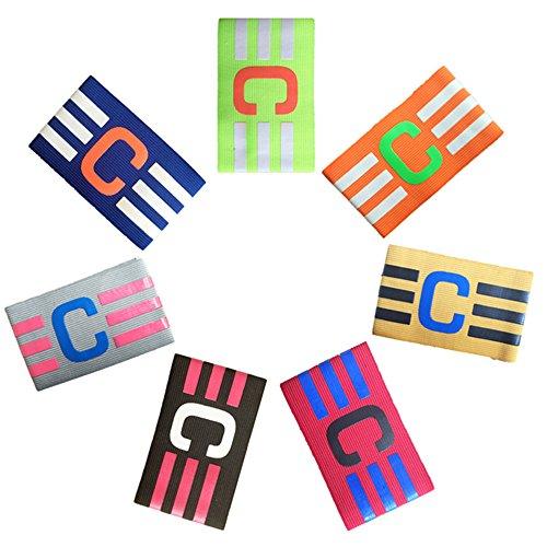 Binglinghua/®/® Paquete de Brazalete de capit/án de f/útbol con Velcro y dise/ño antigotas para Adultos y j/óvenes