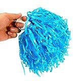 DAUERHAFT 2pcs 8 Colores elásticos Pompones de alegría Accesorios de Baile, para animar a los Jugadores de escuadrones(Blue)