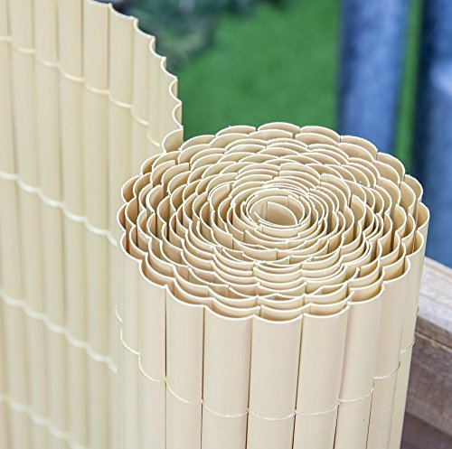 Papillon 4.0 x 1.5m (13ft 1 in x 4ft 11in) Artificial Split Bamboo Plastic Garden Fence Screening Roll Privacy Border Wind/Sun Protection