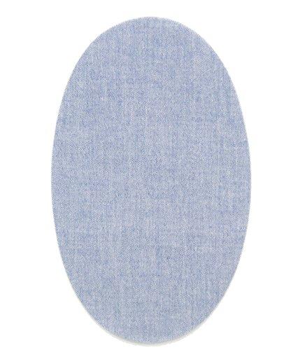 6 rodilleras Tejano Claro termoadhesivas de plancha. Coderas para proteger tu ropa y reparación de pantalones, chaquetas, jerseys, camisas. 16 x 10 cm.