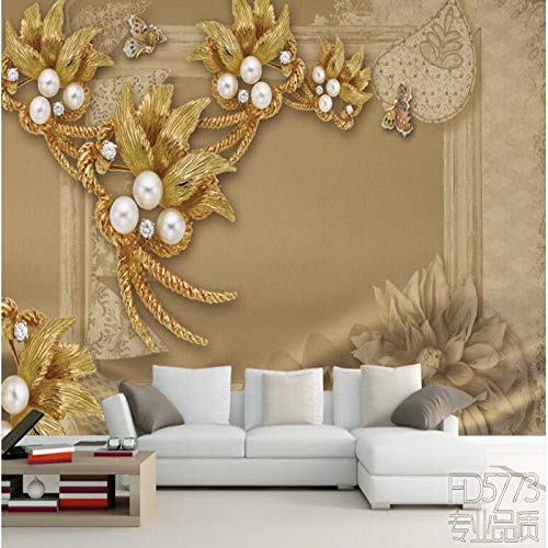 Fotobehang Photo Home Aangepaste Grote Fresco Luxe Sieraden Driedimensionale Bloem Woonkamer Slaapbank TV Achtergrond Muur Stof Behang