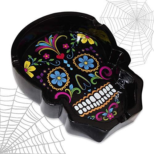 mtb more energy Cenicero ''La Muerte Negra'' - Dia de los Muertos - Décoration Cráneo Mexico