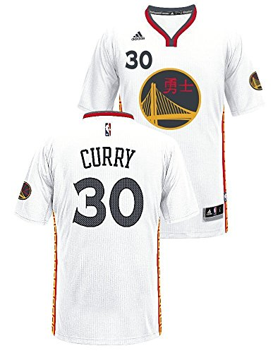 adidas Stephen Curry Golden State Warriors Pride Swingman Jersey (White)