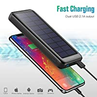 Trswyop Solar Power Bank 26800mAh, Solar Charger【3 Input & 2 Output】 Portable Charger, High Capacity Fast Charging…
