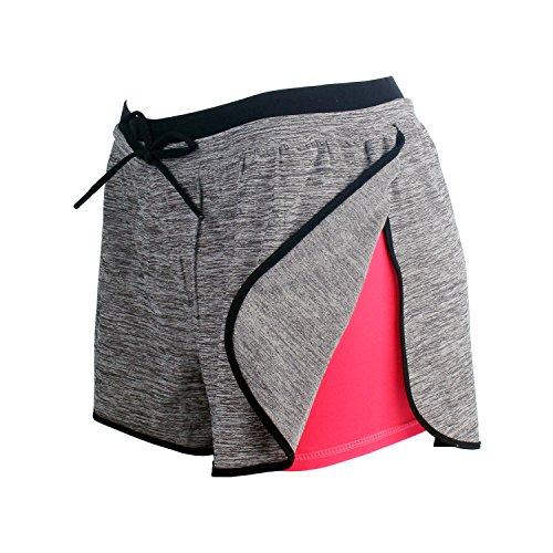 RIBOOM Women Workout Fitness Running Shorts, Performance Stretch Sport Shorts Athletic Yoga Shorts