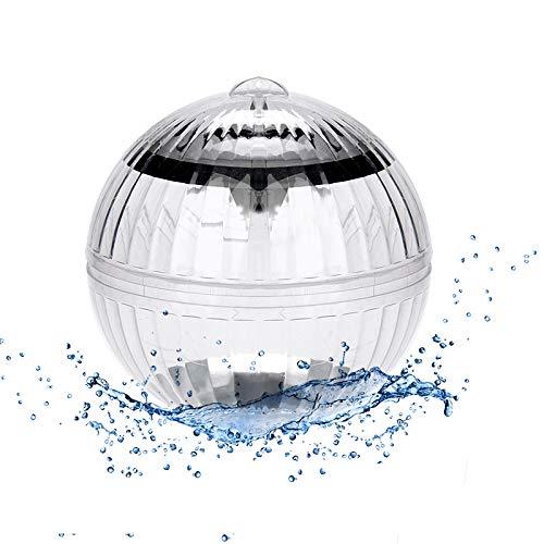 ASANMU Unterwasser Licht, 1 Stück Schwimmende Pool Licht, Wasser Schwimmende Lampen, Solar Schwimmkugel Poolbeleuchtung Wasserlicht Kugelleuchte Farbwechsel für Garten Deko,Pool, Baum,Teich Dekoration