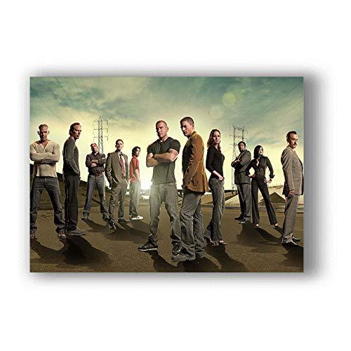 h-p Prison Break Classic TV Series Lienzo Arte Pintura Al Óleo Cartel Decoración del Hogar Mural Sin Marco 50X60 Cm U10165