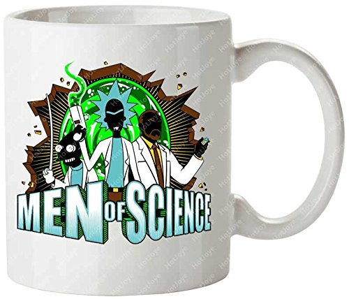 Men Of Science Mad Scientist Adult Swim Archer Professor Farnsworth Futurama Rick Sanchez Rick And Morty Mug Cup Cool Cup by Hot Joye