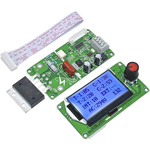 SUQIAOQIAO Spot-Welder-Steuerungsmodul, 100A digitales Display LCD-Doppelpuls-Encoder-Schweißtransformator Zeitregler-Board