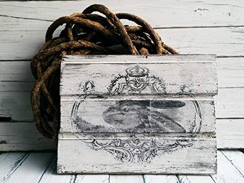 unknow Osterdeko Shabby Chic Holz Osterdeko Holzschild Vintage Holzschild Hase Ostern Deko Schild Holz Garten Hase Deko