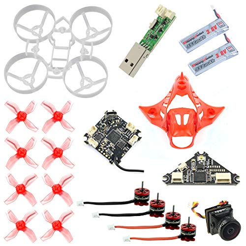 FEICHAO DIY Drone Kit 65MM Brushless Whoop Indoor FPV con F4 Flight Control Cámara SE0603 / SE0802 Motor F4 1.0 / F4 2.0 Personalización de Soporte Opcional (Basic Version with Frsky)
