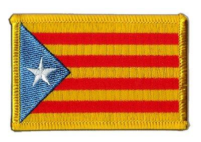 Flaggen Aufnäher Estelada blava Katalonien Fahne Patch + gratis Aufkleber, Flaggenfritze®
