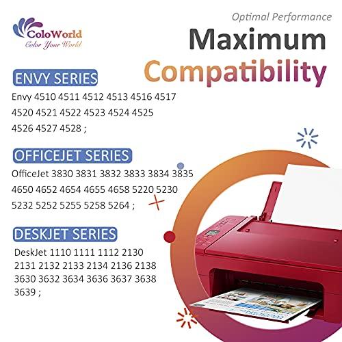 ColoWorld Remanufacturado 302 XL Cartuchos de Tinta para HP 302XL 302 Negro y Tricolor Compatible para HP OfficeJet 3634 3636 3830 5230 4650 5220 DeskJet 3630 1110 2130 3639 Envy 4528 4520 Impresora