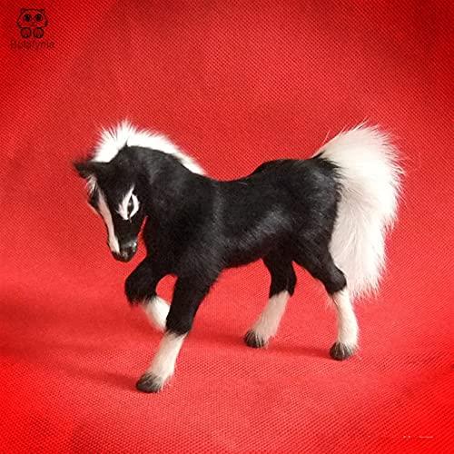 JrenBox Juguetes Niños Juguete Cuero Simulación Animal Caballo Creativo Regalos Adornos De Juguete Animal Decoración