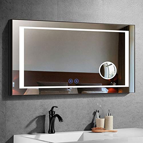 Dp Home Large Horizontal Rectangle Mirror Led Illuminated Backlit Wall Mount Bathroom Vanity Mirrors Hotel Office Bar Mirror Infrared Sensor 50 X 20 Inch E Ck201 Buy Online In Cook Islands At Cook Desertcart Com