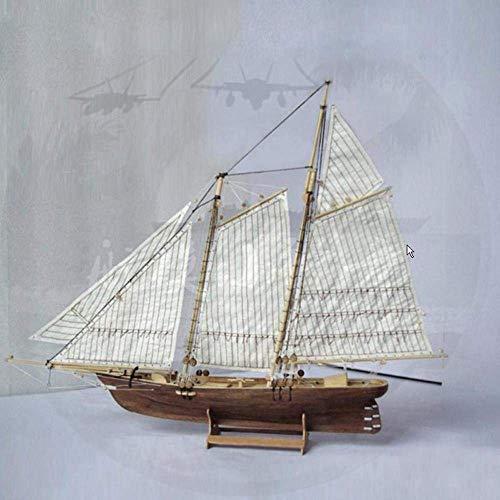 1yess Dekoration aus Holz Segeln Modell Desktop-Zubehör Desktop-Dekoration Handgemachte Holzhandwerk Styling