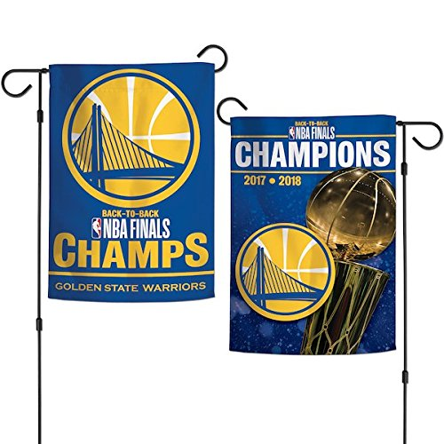 Wincraft NBA Golden State Warriors 2018 Basketball Champions 2-seitige Gartenflagge