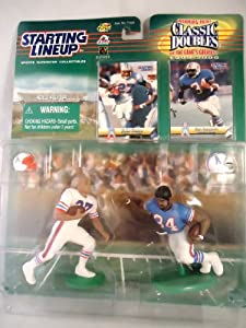 1999-2000 Classic Doubles Football Figurines Eddie George and Earl Campbell