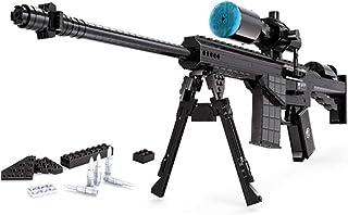 SU Simulación de Bloques de construcción para niños M107 Rifle de Francotirador de Juguete de 3 a 6 años de Edad, ensamblaje de 527 Piezas