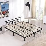 i-flair Metallbett 140x200 cm, Futonbett - für alle Matratzen geeignet