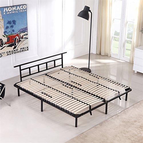 i-flair Metallbett 180x200 cm, Futonbett - für alle Matratzen geeignet