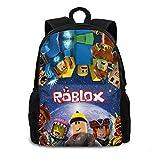 Ro-Blox Backpack Cartoon School Book Bag Lightweight Shoulder Bags For Kids Boys Girls