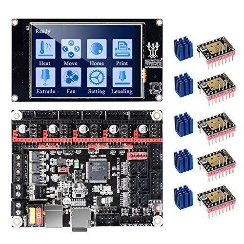 PoPprint SKR V1.3 32-Bit-Hauptplatine mit TFT35 V2.0-Touchscreen und 5 Stk. TMC2208 V3.0-UART-Modus für DIY-3D-Drucker