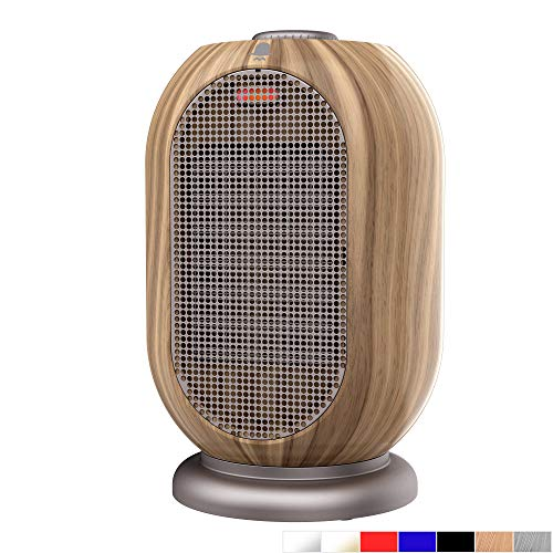 MRMIKKI Mini Space Heater, 1200W/750W Heating Fan, PTC Ceramic Space Heater, Small Electric Heater, with Tip-Over & Overheating Protection, Portable Heater Indoor for Commercial & Home, VH-12TQ-W Electric heaters Space