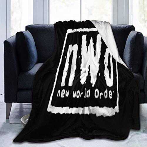 Aiwo NWO Wolfpack (2) manta de franela – antibolitas, antiarrugas, antialérgica- super suave manta para cama, sofá, picnic, camping, 50 x 40
