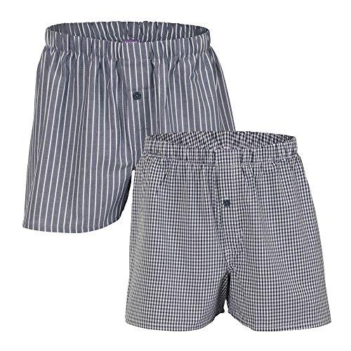Living Crafts Boxer-Shorts, 2er-Pack M, Anthracite