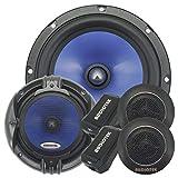 Pair of Audiotek 65C 6-1/2 Inch 2-Way Component Speaker Set with 1000 -Watt Peak Power 340 Watt RMS 170 Watt Per Speaker Frequency Response: 65-20,000 H 6.5' Car Audio Component Speaker System