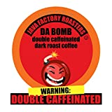 Java Factory Single Cup Coffee for Keurig K Cup Brewers, Da Bomb Extra Bold Double Caffeinated, 80 Count, Red