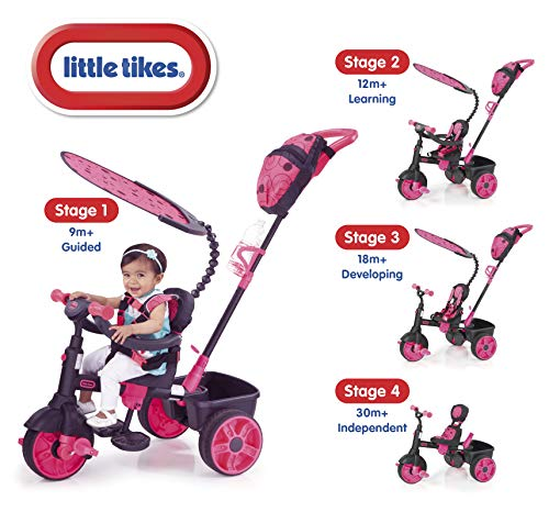 Little Tikes - 634321E4 - Tricycle - 4 En 1 Deluxe Edition-Neon Pink