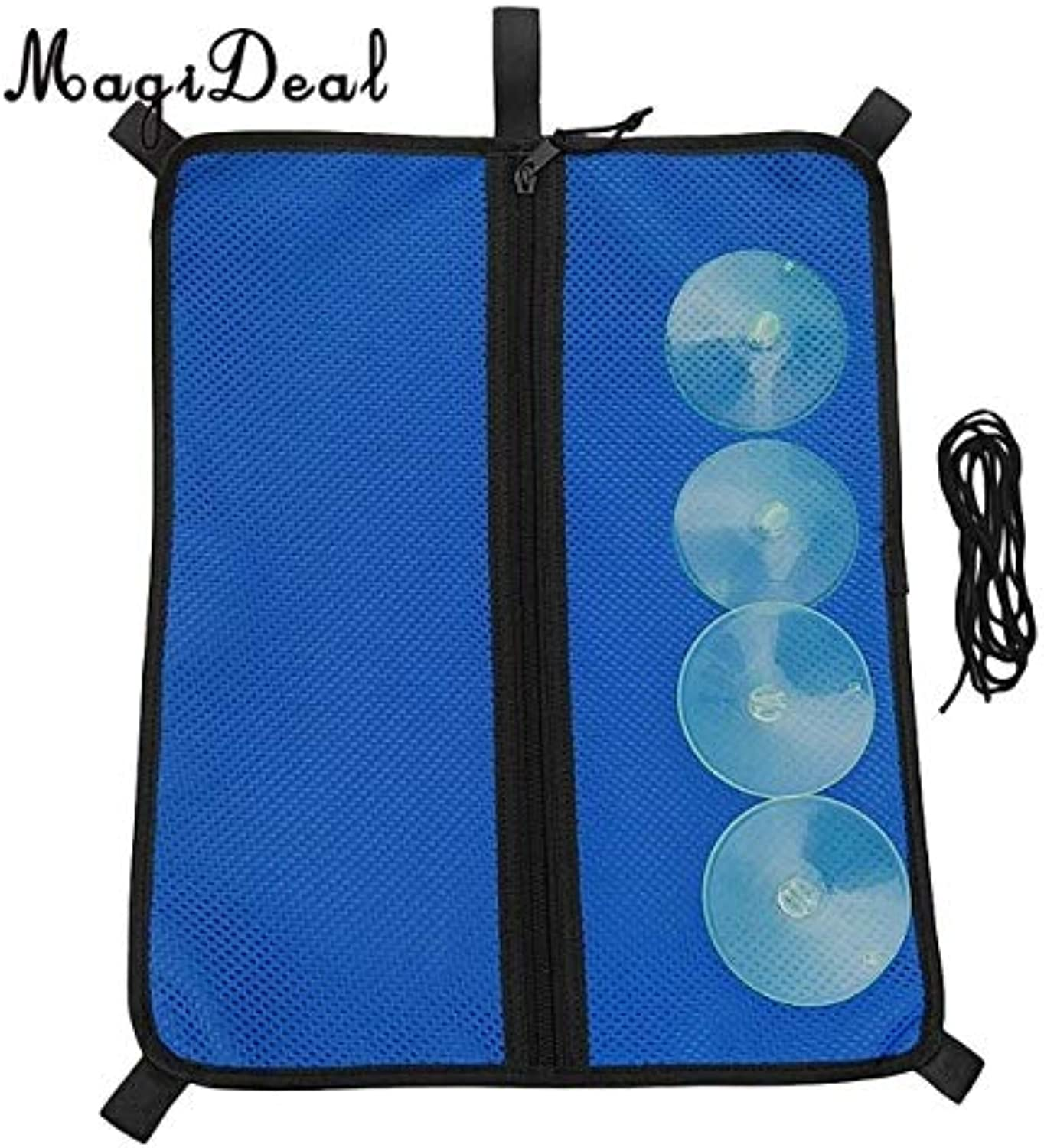 Value-5-StarSUP Mesh Paddleboard Storage Bag with Suction Cups & Elastic Bungee Rope for Sunscreen Diving Swimming Goggles Water Bottles