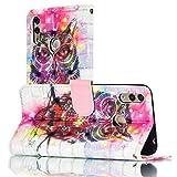 Étui de téléphone portable Super motif 3D Dessin coloré Dessin Horizontal Flip Cuir Case pour...