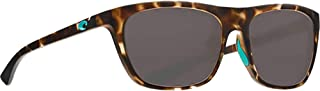 Costa Del Mar Cheeca CHA249OGP Unisex Matte Shadow Tortoise Frame Gray Lens Wrap Sunglasses