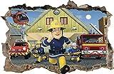 WANDAUFKLEBER Loch in der Wand 3D Feuerwehrmann FIRAMAN SAM