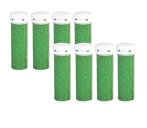 8x Extreme Grobe Grün Mikro-Mineral Ersatzrollen für die Emjoi Micro-Pedi Replacement Rollers Compatible With Emjoi Micro Pedi Rollen