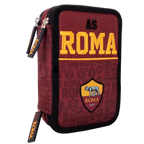 AS ROMA 1927 ASTUCCIO 3 ZIP ORGANIZZATO COMPLETO 46 pezzi 58166 new