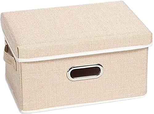 LHYLHY Caja de Almacenamiento para Ropa, Cajas de Juguetes y Almacenamiento Cajas de Almacenamiento Grandes para Cubos Beige