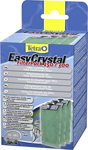 Tetra EasyCrystal Filter Pack 250/300 Filterpads (Filtermaterial für EasyCrystal Innenfilter, geeignet für Aquarien von 30 Liter), 3 Stück