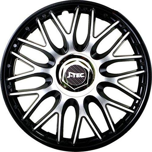 """Hubcaps """"Orden Black"""" Wheel Trims Set of 4 (16 inch)"""