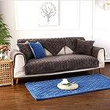 Sofabezug Sofa Bezug 1 stück Plüsch Kariertes Sofa Cover Home rutschfeste Schutzmatte Sofabezug,Geeignet für l-Form ecksofa Sofa, Gray, 70 * 70cm