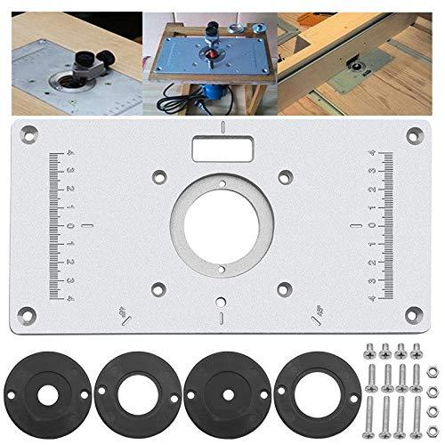 XUQIANG 235x120x8mm máquina de Recorte de la máquina de Flip Tablero de Madera enrutador de carpintería de la Placa de inserción Herramientas manuales de carpintería de Bricolaje