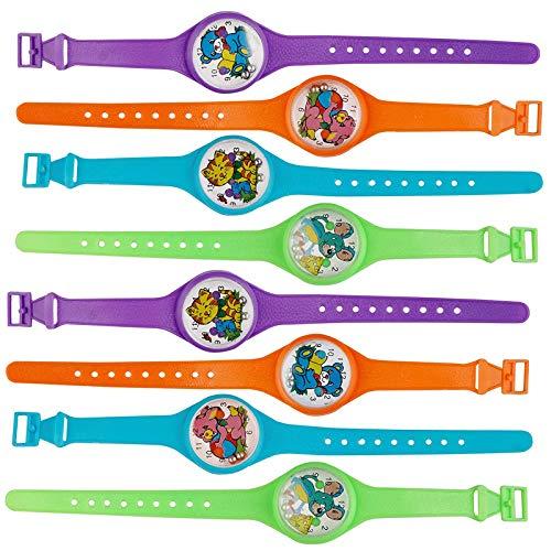 THE TWIDDLERS 45pcs Kinder Uhr Jungenuhr Mädchenuhr Kunststoff Schul Uhr Jungen Mädchen - Armbanduhr Geduldspiel Kindergeburtstags - Halloween Gastgeschenke Spielzeug